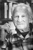 Casual portrait of Herbert Marcuse in his study in the 1970s