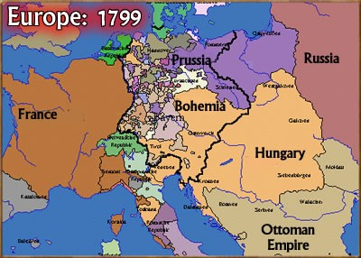 Map Of Germany Before Unification.Chris Young On Prussian Vs Austrian Leadership In German Unification