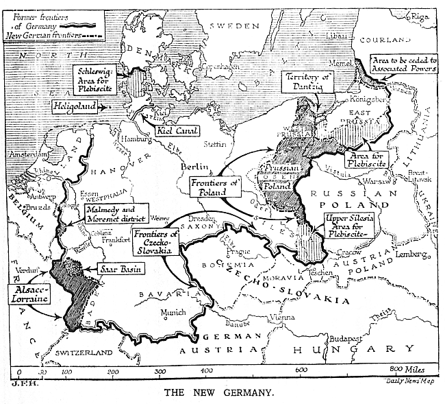 Map Of Germany 1919.Signing Of The Versailles Treaty