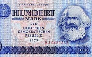 One Hundred East German Marks Bill