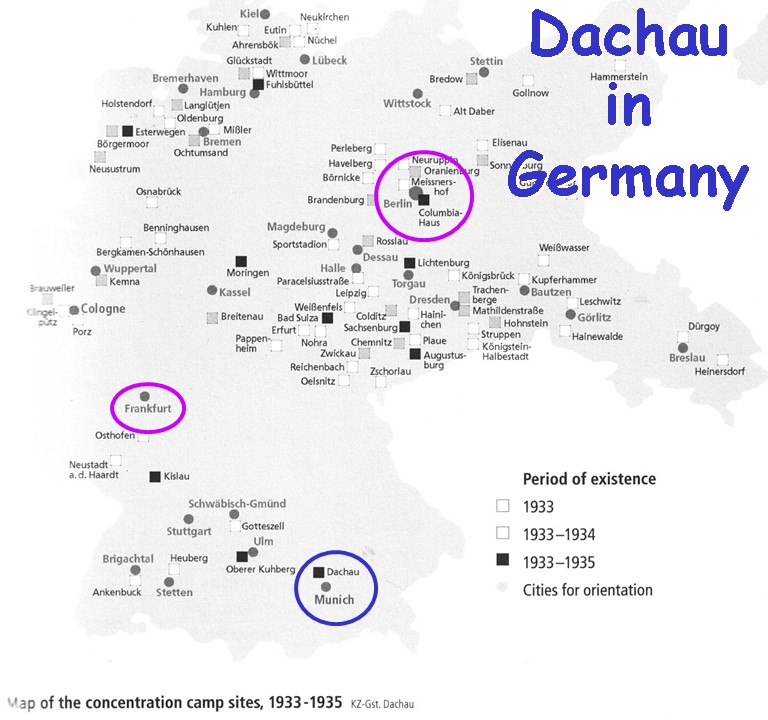 Exhibiting Dachau Lecture - Germany map of concentration camps