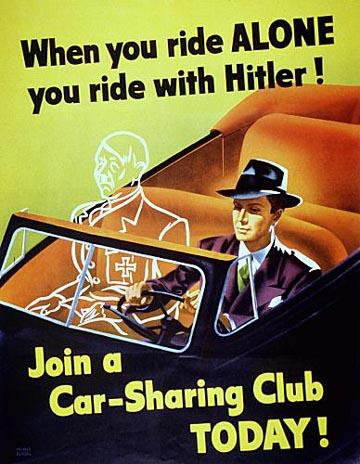 When you ride alone poster, 1943