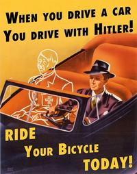 When you drive alone -- ride a bicycle today poster